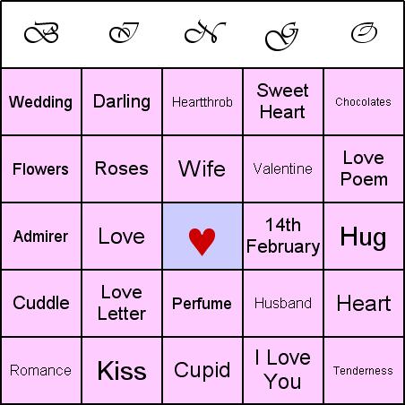 how to play valentine bingo